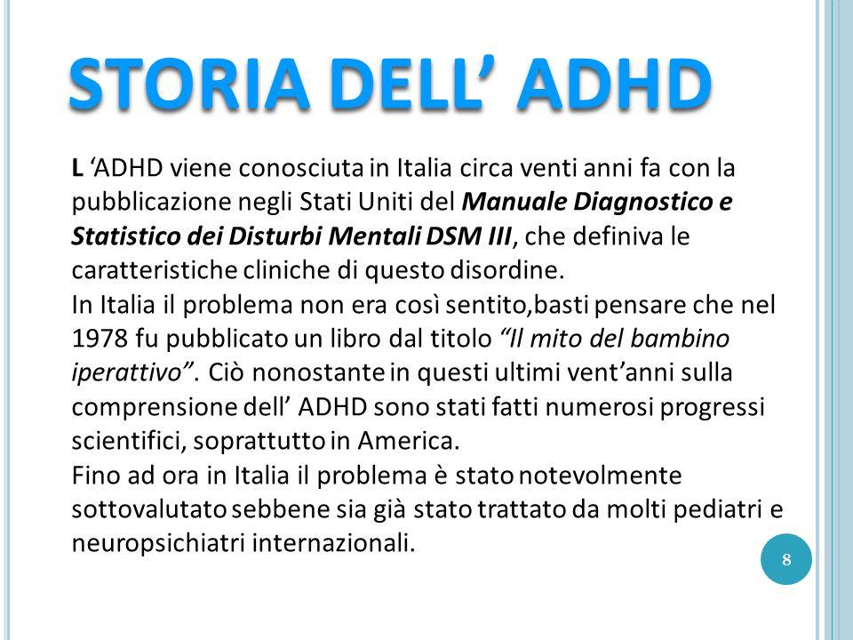 STORIA DELL' ADHD