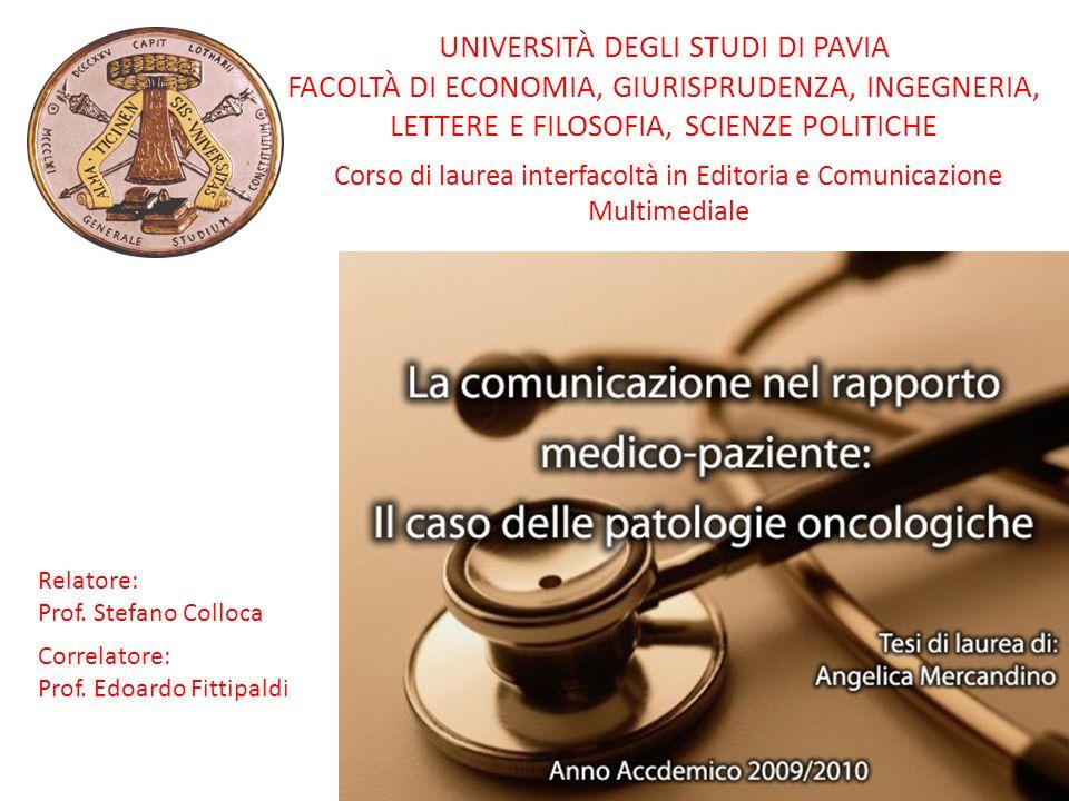Corso di laurea interfacoltà in Editoria e Comunicazione Multimediale