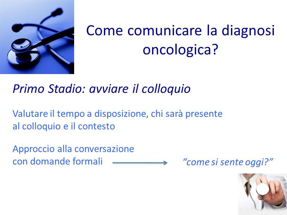 Come comunicare la diagnosi oncologica