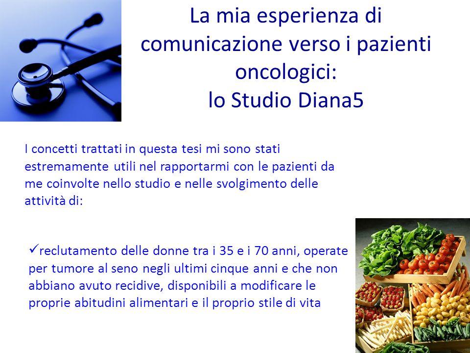 La mia esperienza di comunicazione verso i pazienti oncologici: lo Studio Diana5
