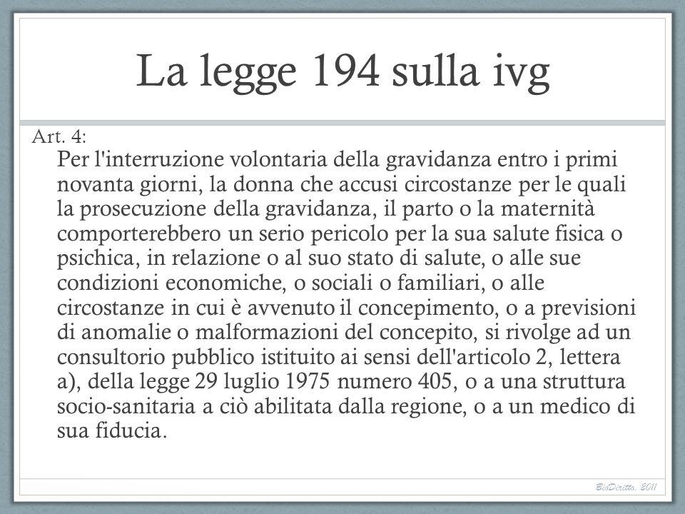 La legge 194 sulla ivg