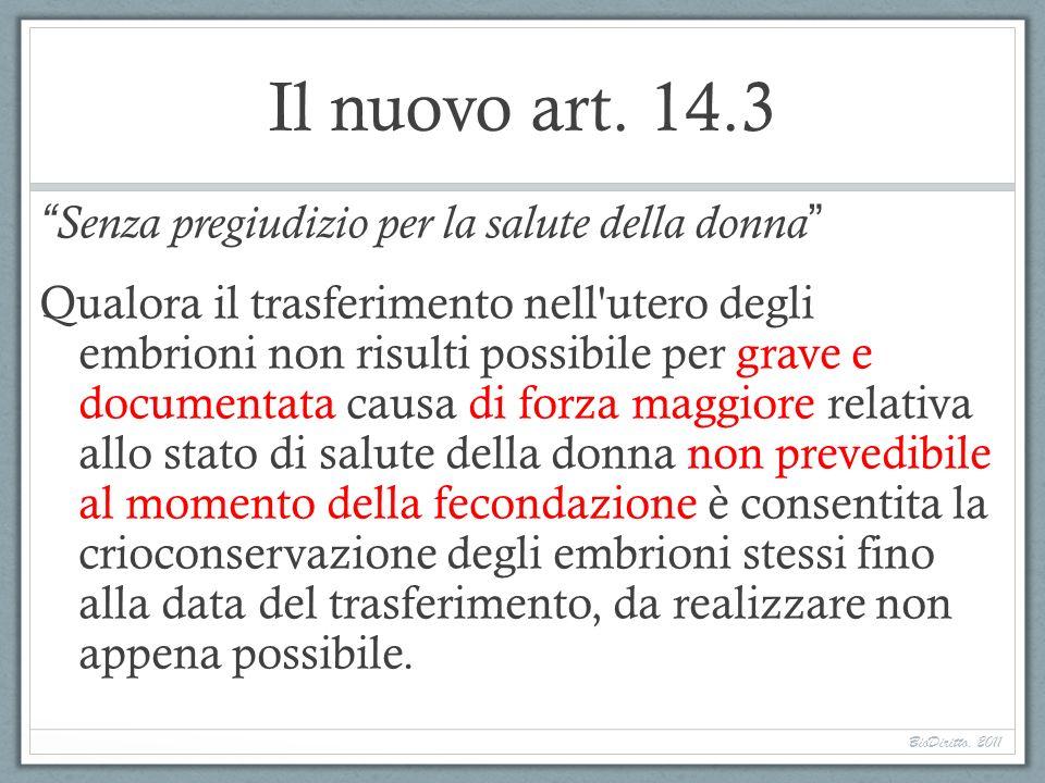 Il nuovo art. 14.3