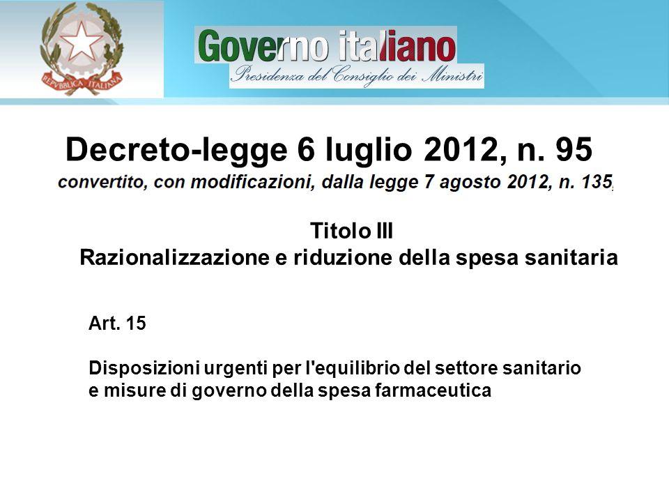 Decreto-legge 6 luglio 2012, n. 95