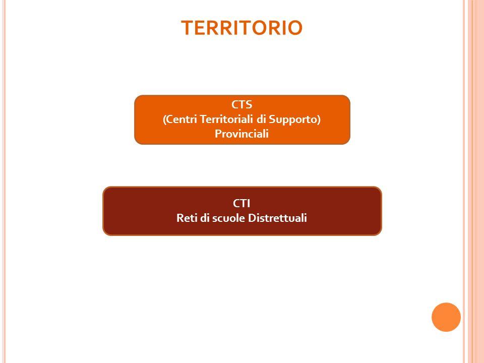 (Centri Territoriali di Supporto) Reti di scuole Distrettuali