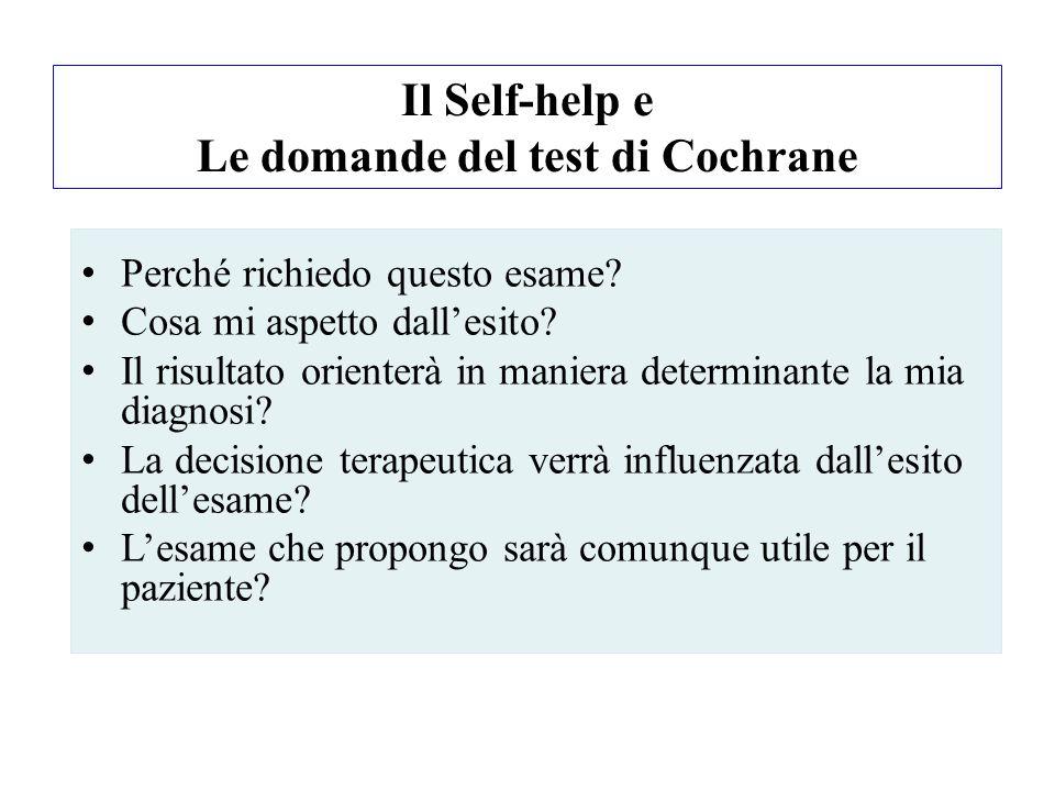 Il Self-help e Le domande del test di Cochrane