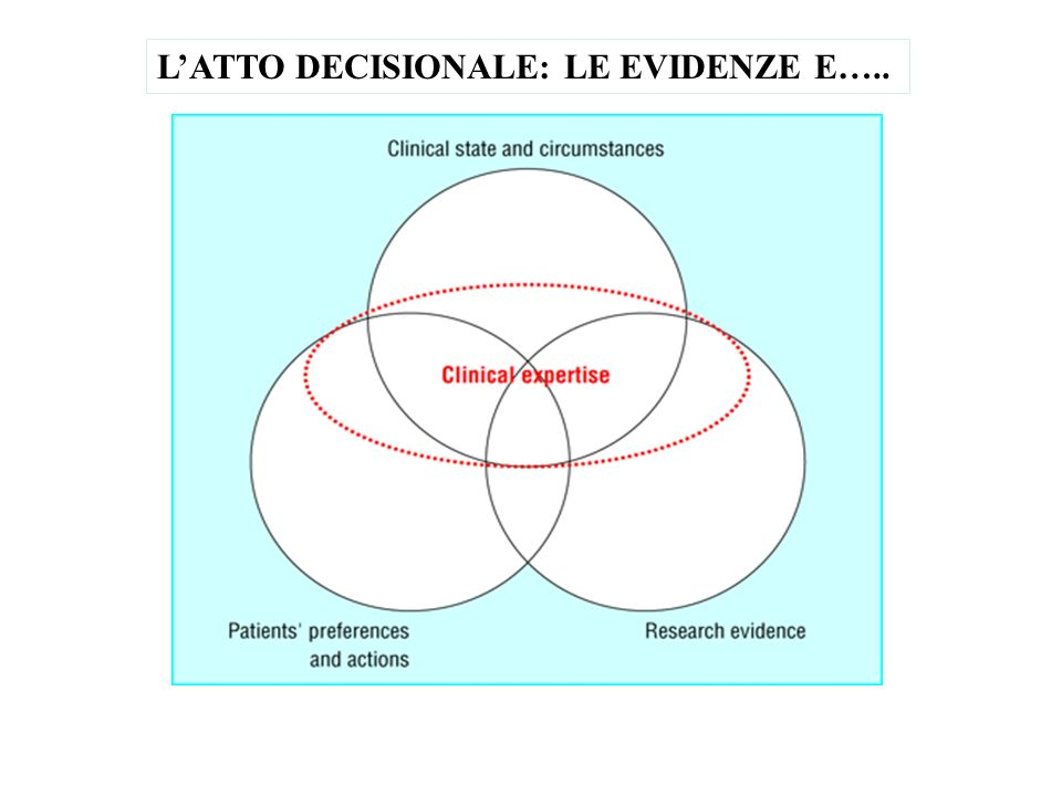L'ATTO DECISIONALE: LE EVIDENZE E…..