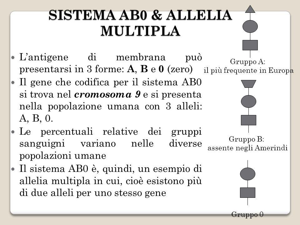 SISTEMA AB0 & ALLELIA MULTIPLA