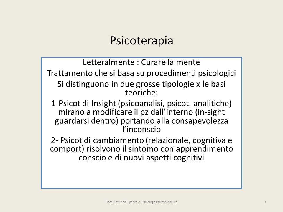 Psicoterapia Letteralmente : Curare la mente