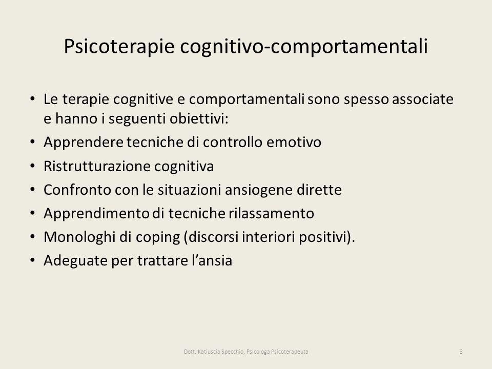 Psicoterapie cognitivo-comportamentali