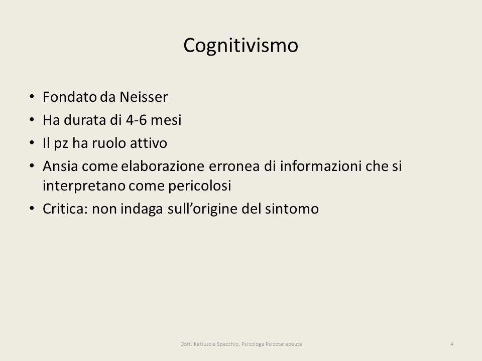 Dott. Katiuscia Specchio, Psicologa Psicoterapeuta
