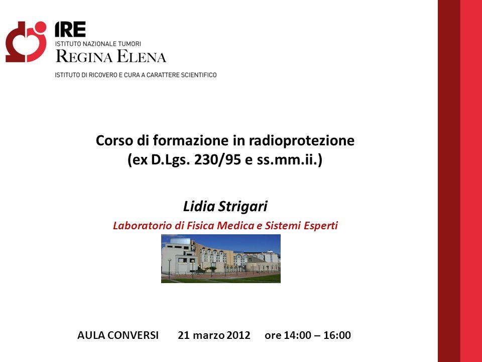 Corso di formazione in radioprotezione (ex D.Lgs. 230/95 e ss.mm.ii.)