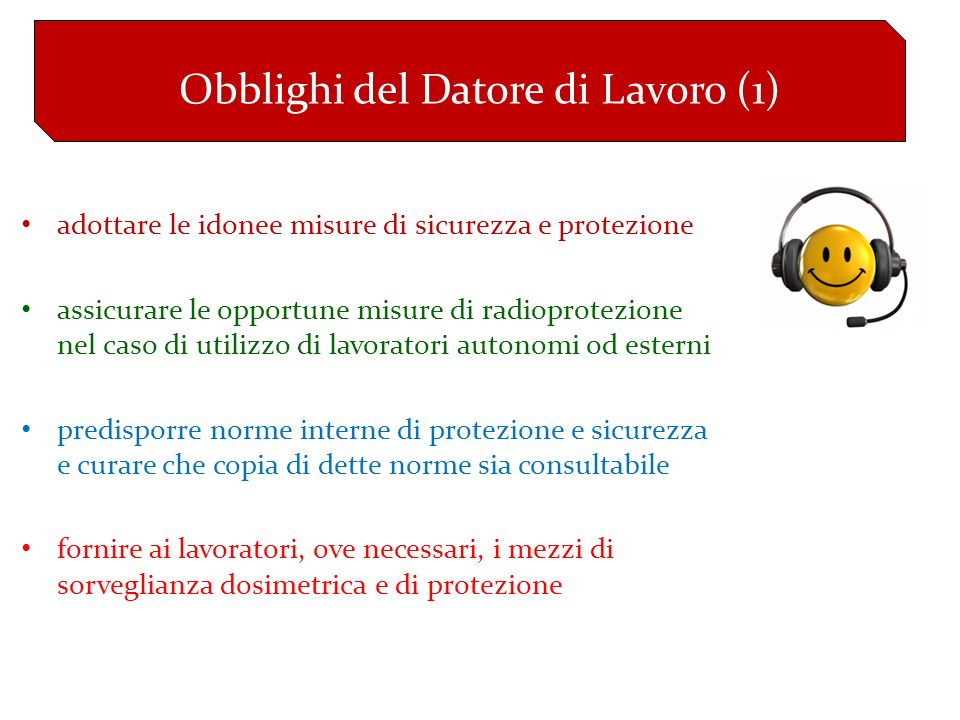 Obblighi del Datore di Lavoro (1)