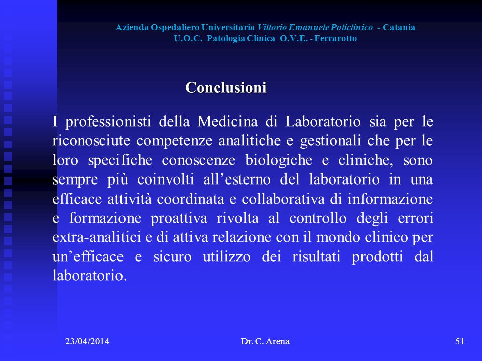 Azienda Ospedaliero Universitaria Vittorio Emanuele Policlinico - Catania