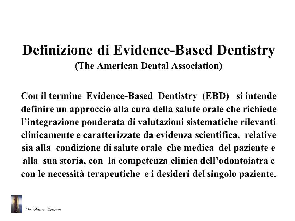 Definizione di Evidence-Based Dentistry