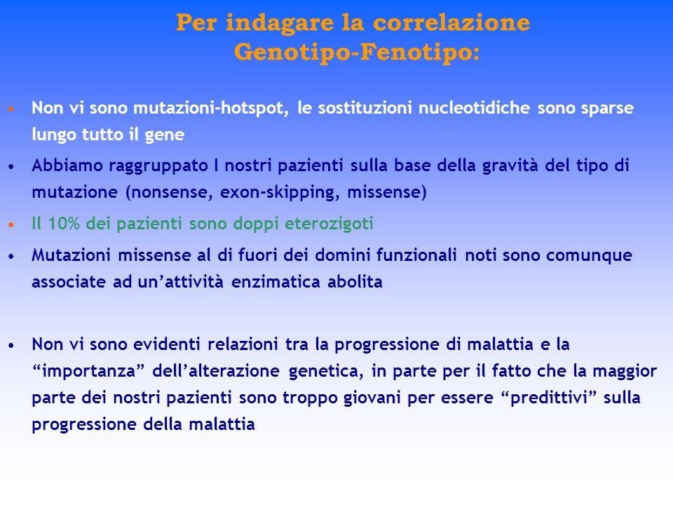 Per indagare la correlazione Genotipo-Fenotipo: