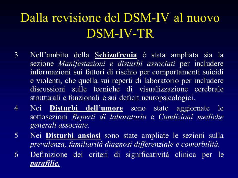 Dalla revisione del DSM-IV al nuovo DSM-IV-TR