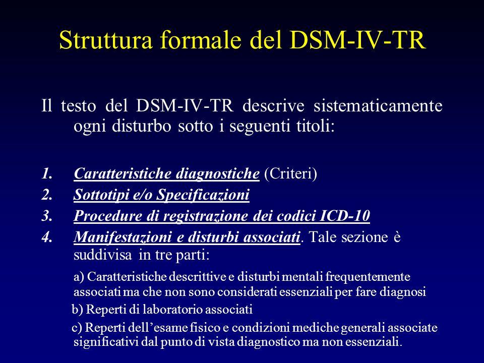 Struttura formale del DSM-IV-TR