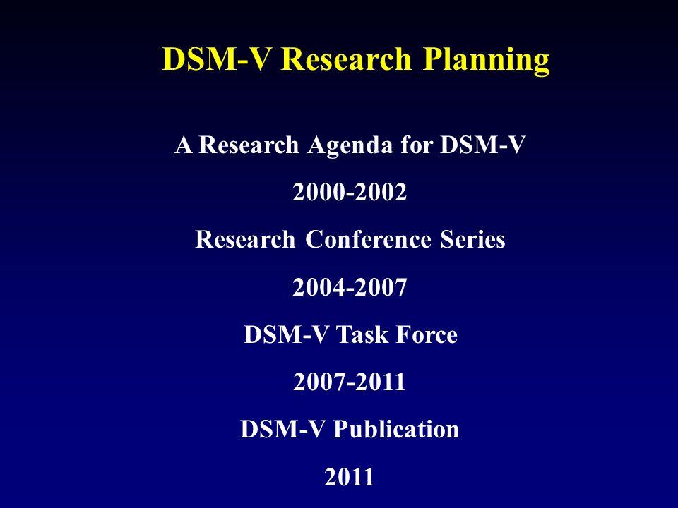 DSM-V Research Planning