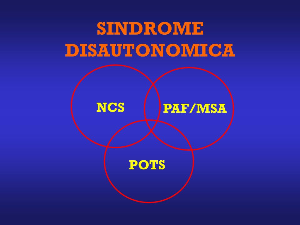 SINDROME DISAUTONOMICA