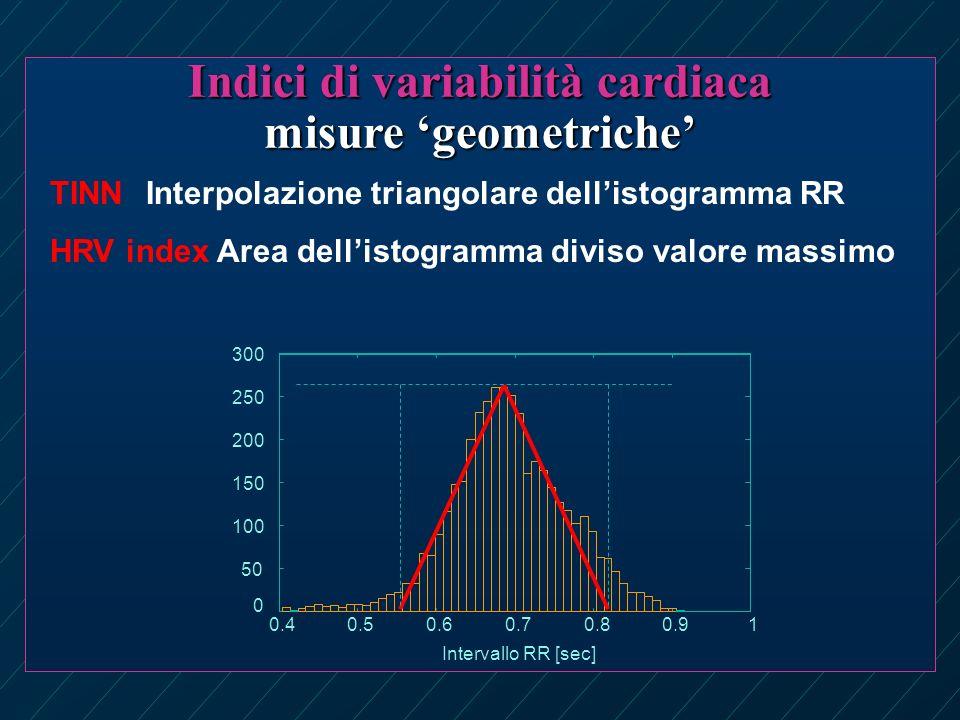 Indici di variabilità cardiaca misure 'geometriche'