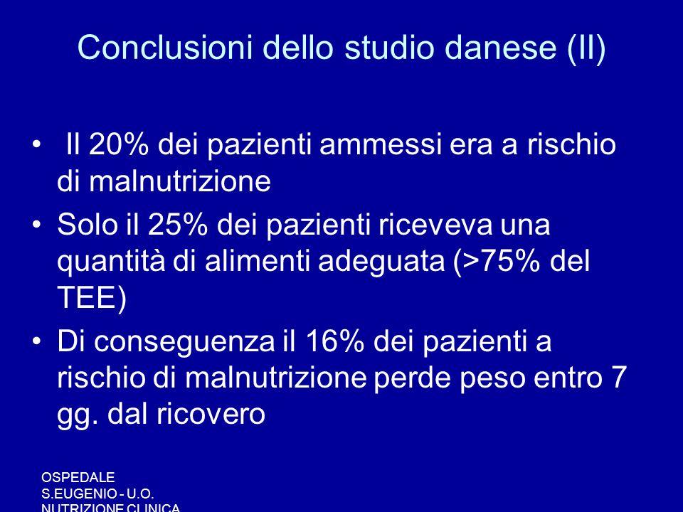 Conclusioni dello studio danese (II)