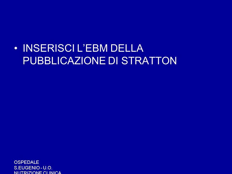 INSERISCI L'EBM DELLA PUBBLICAZIONE DI STRATTON