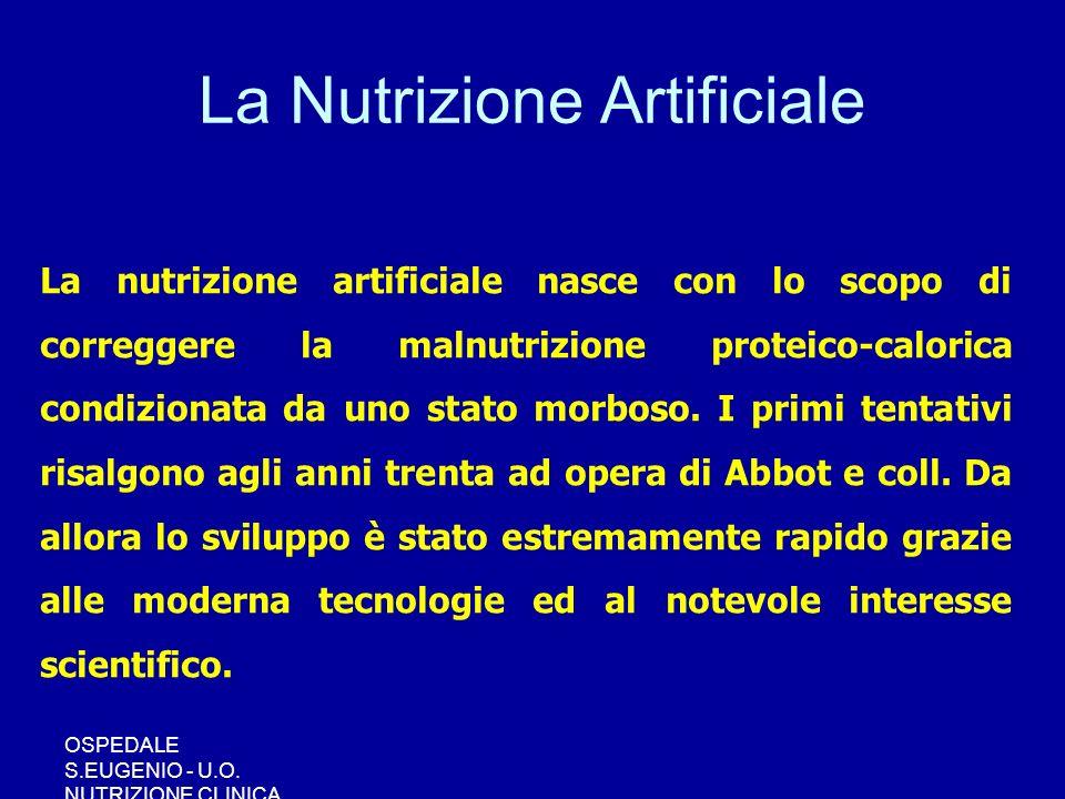 La Nutrizione Artificiale