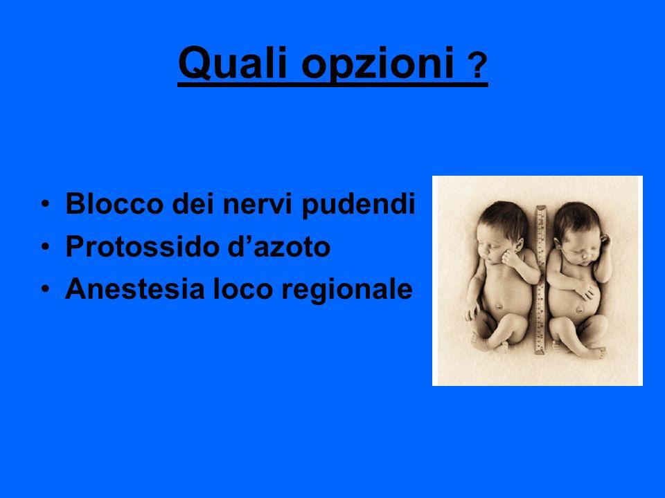 Quali opzioni Blocco dei nervi pudendi Protossido d'azoto