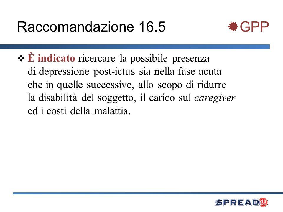Raccomandazione 16.5 GPP