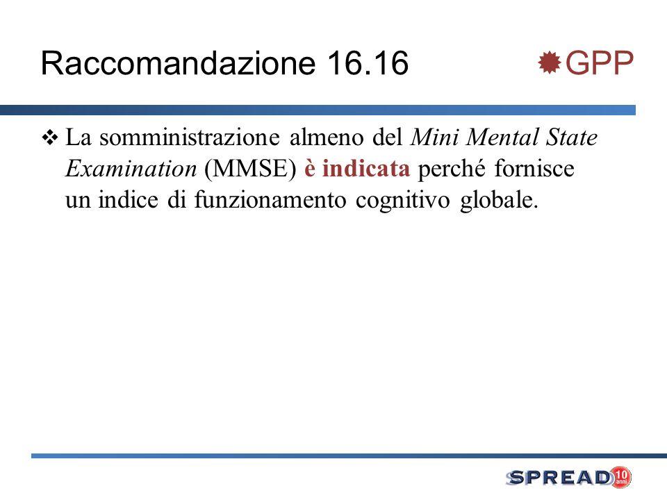 Raccomandazione 16.16 GPP