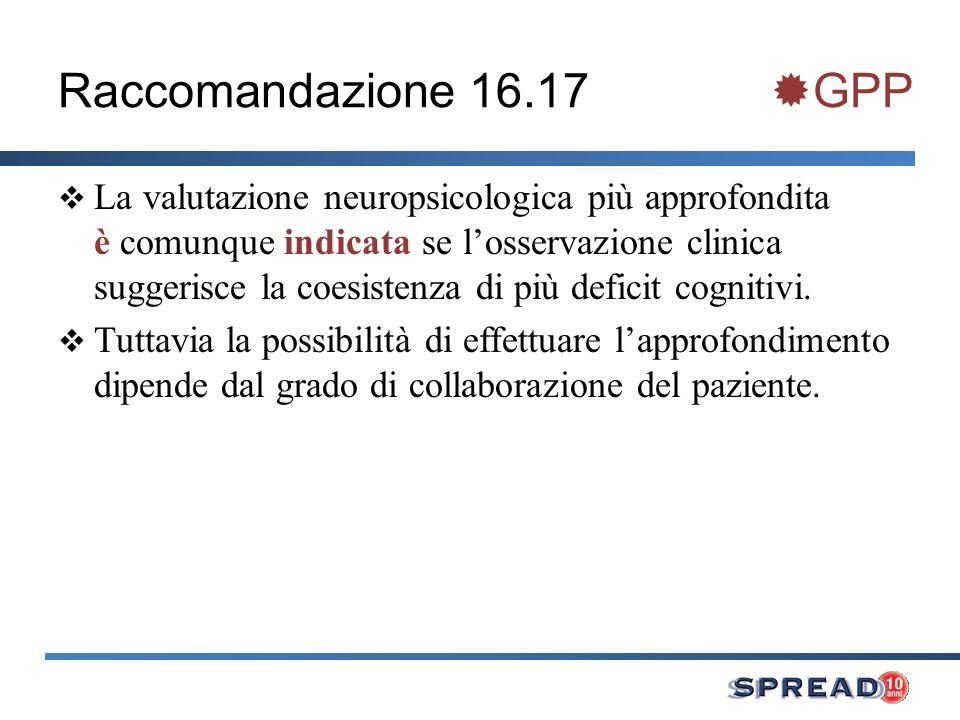 Raccomandazione 16.17 GPP