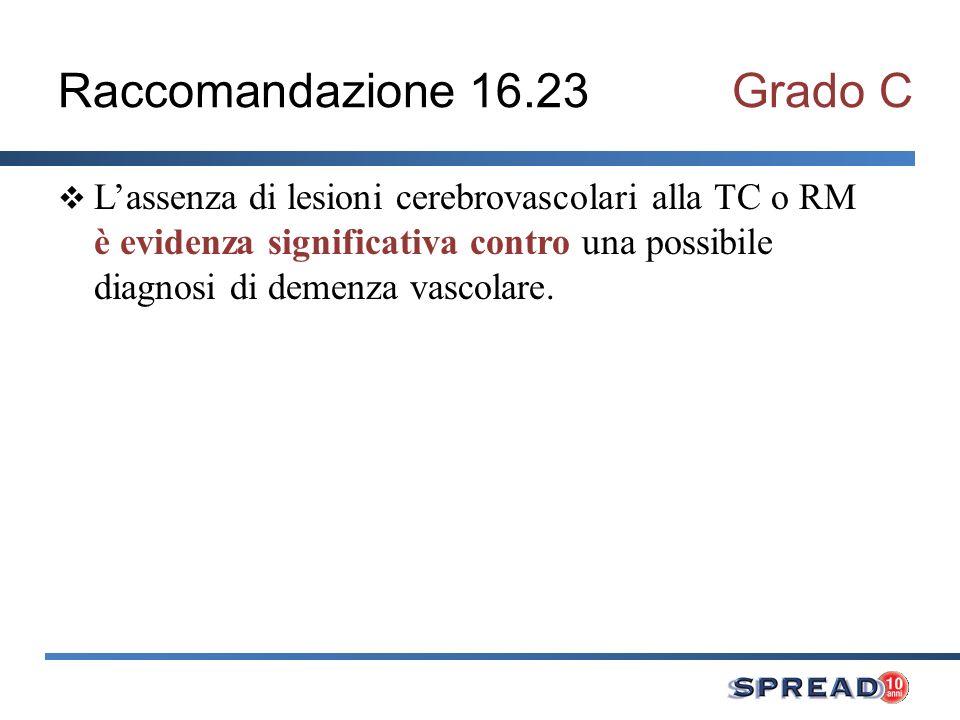 Raccomandazione 16.23 Grado C