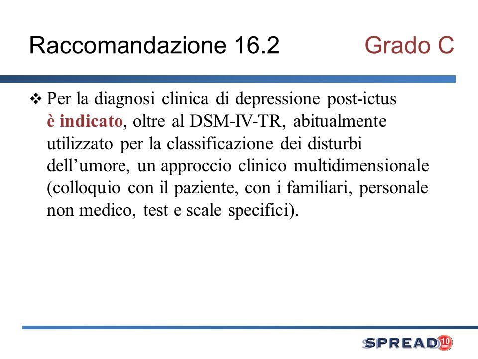 Raccomandazione 16.2 Grado C