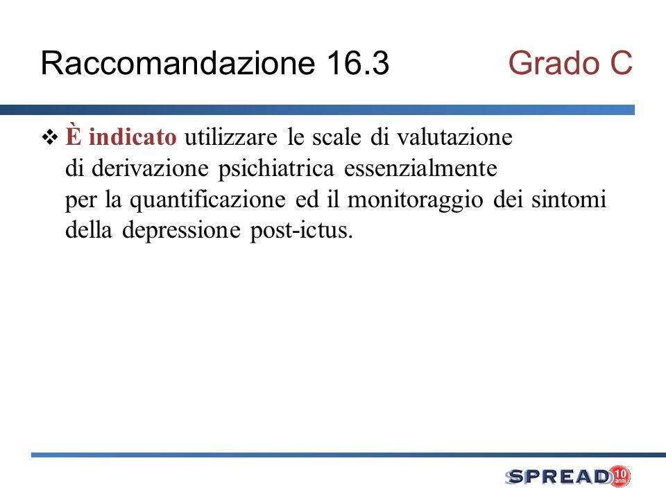 Raccomandazione 16.3 Grado C