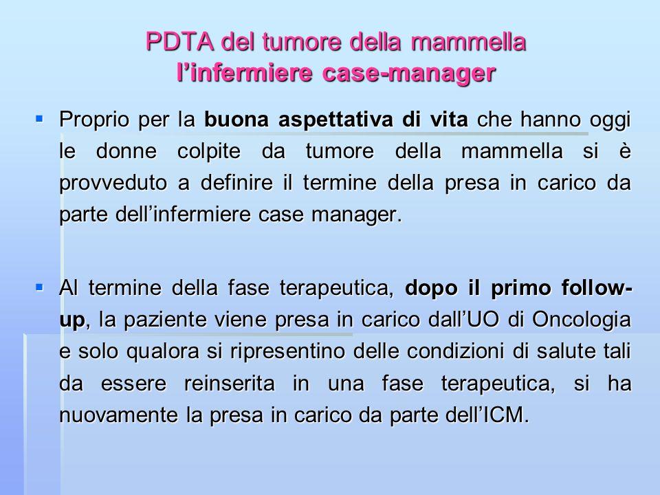 PDTA del tumore della mammella l'infermiere case-manager