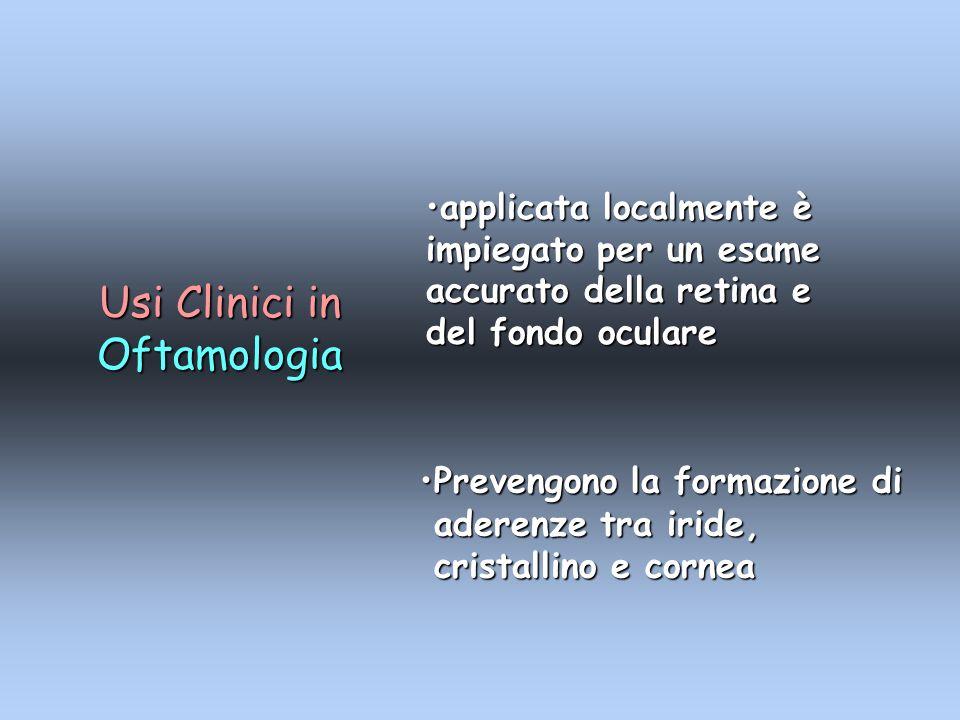 Usi Clinici in Oftamologia