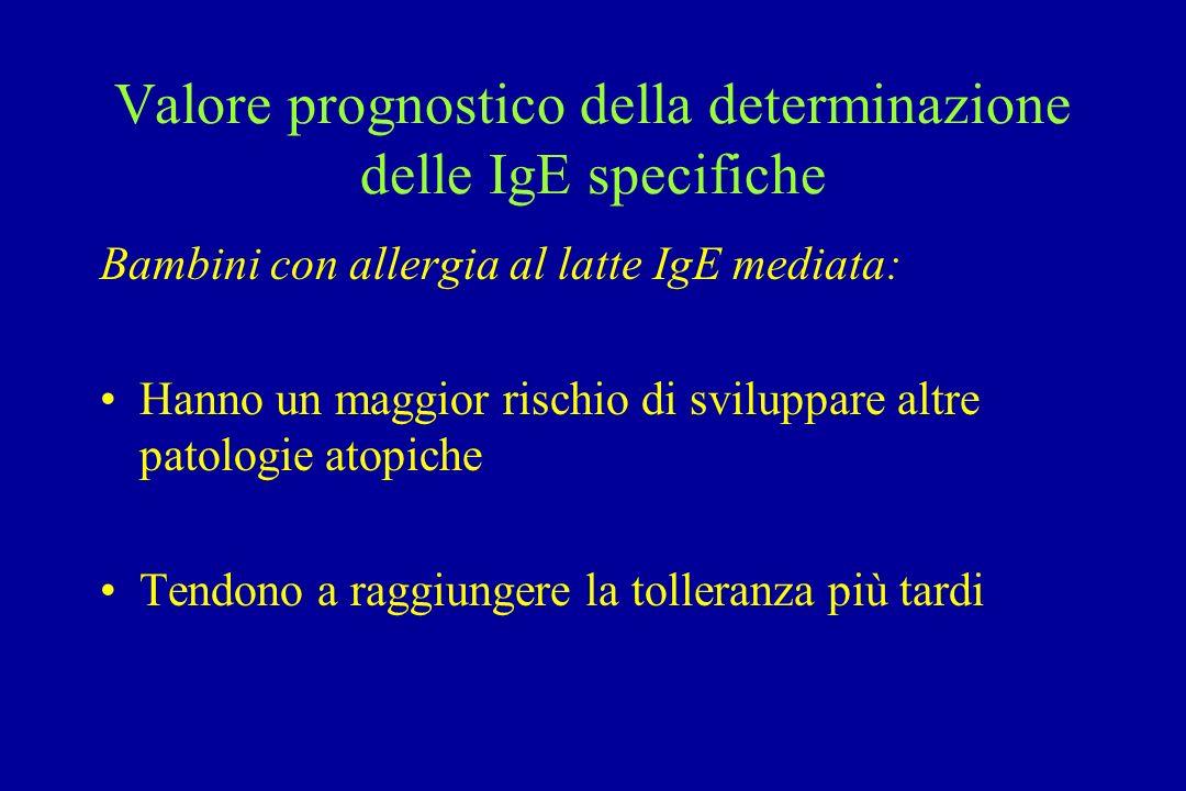 Valore prognostico della determinazione delle IgE specifiche