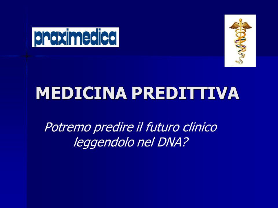 Potremo predire il futuro clinico leggendolo nel DNA