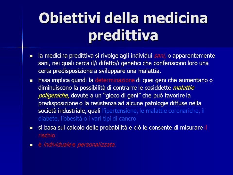 Obiettivi della medicina predittiva