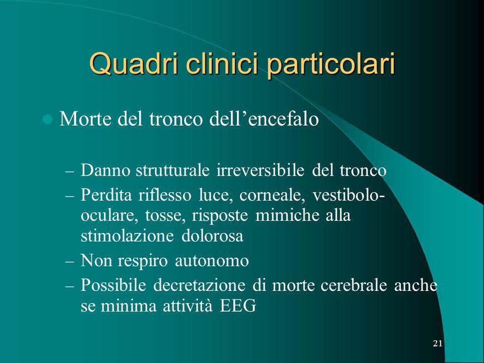 Quadri clinici particolari