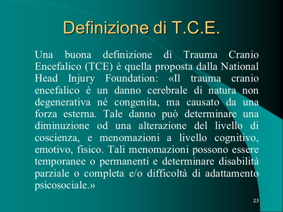Definizione di T.C.E.