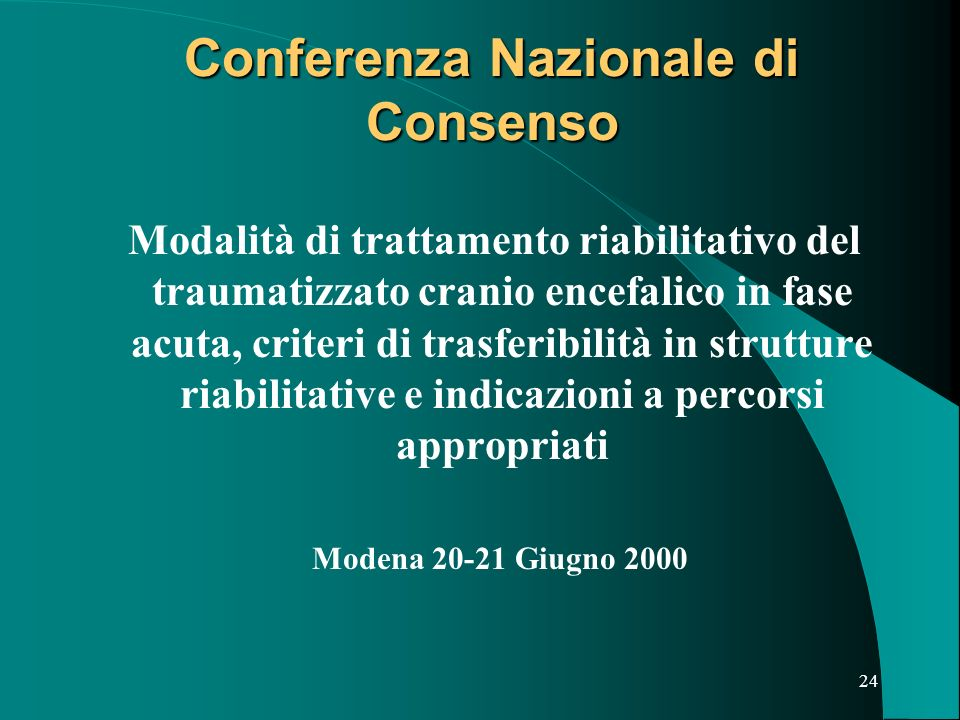 Conferenza Nazionale di Consenso