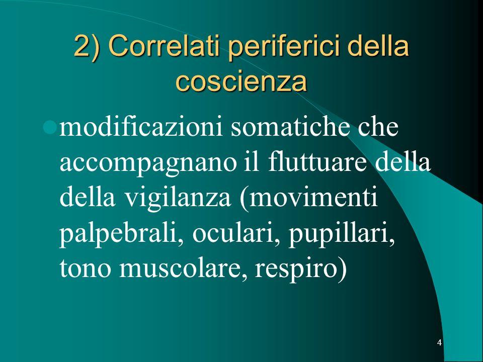 2) Correlati periferici della coscienza