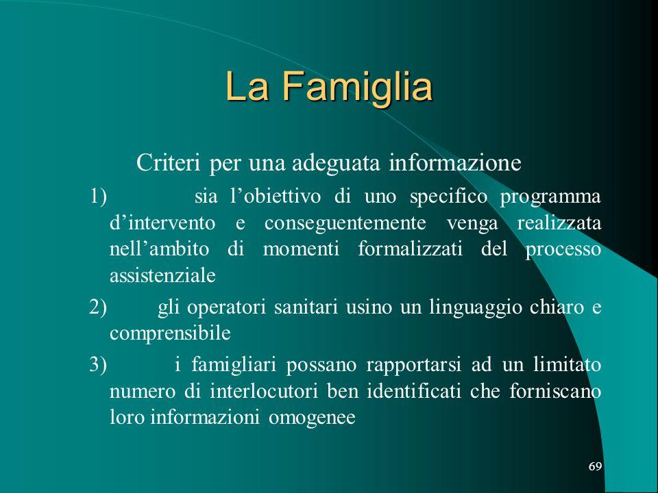 Criteri per una adeguata informazione