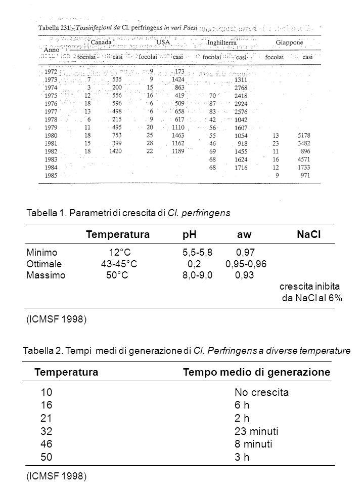 Temperatura Tempo medio di generazione
