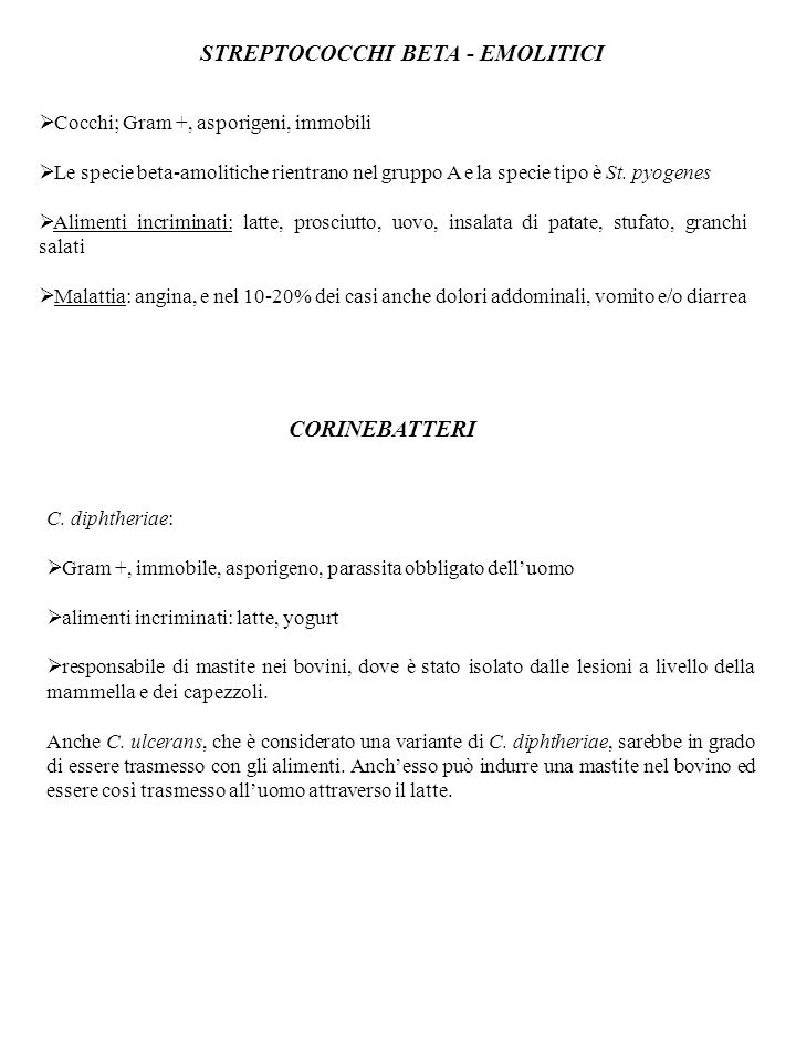 STREPTOCOCCHI BETA - EMOLITICI