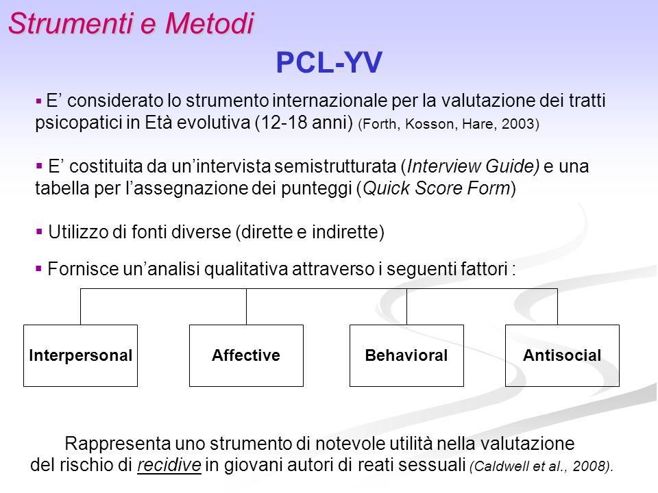 Strumenti e Metodi PCL-YV