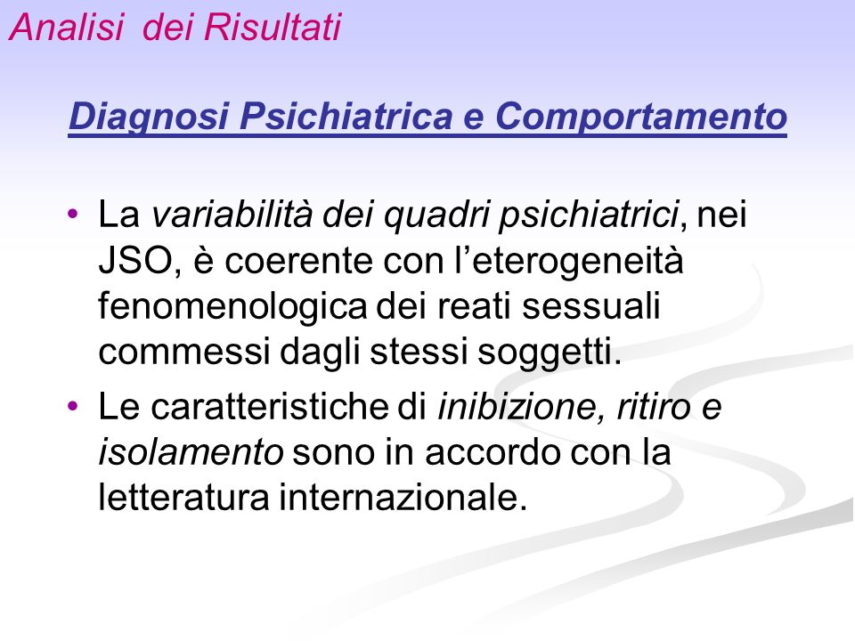 Diagnosi Psichiatrica e Comportamento