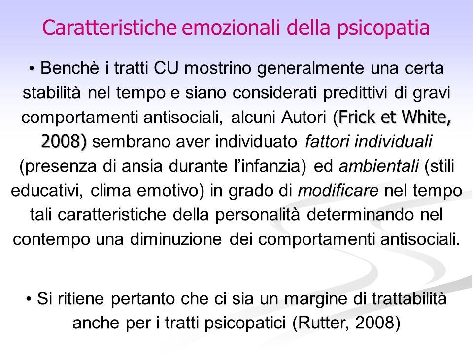 Caratteristiche emozionali della psicopatia