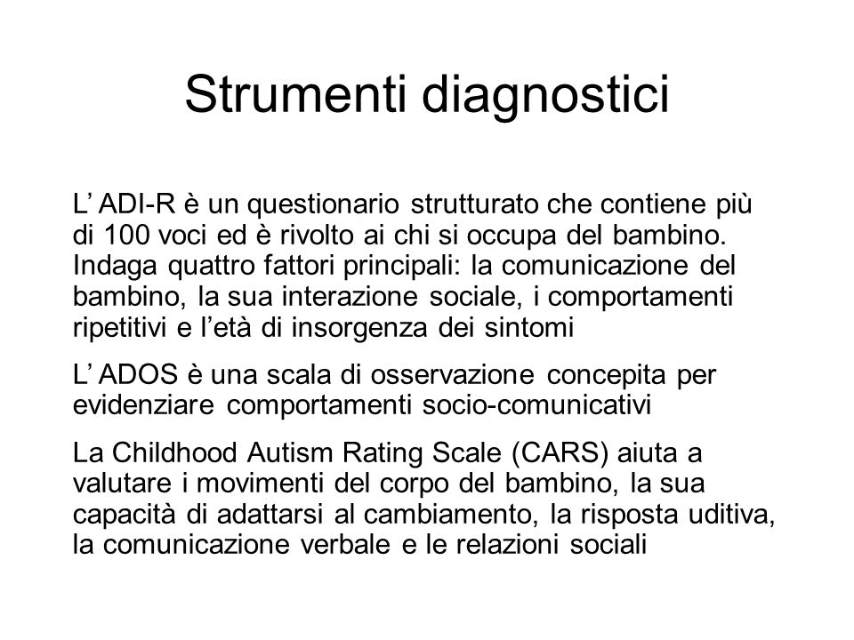 Strumenti diagnostici